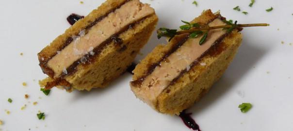 Sandwich de foie en Restaurante Gala