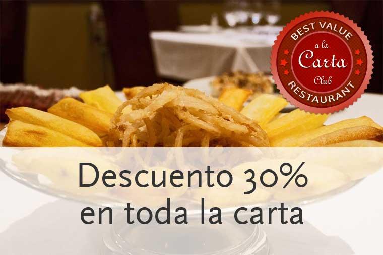 Descuento 30 por-ciento restaurante Sal Gorda