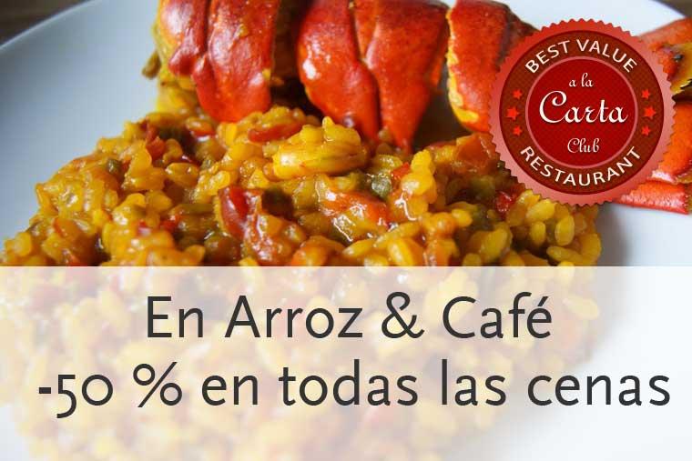 Promoción para cenas en Arroz y Café