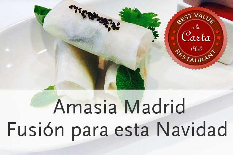 Amasia, cocina fusión para Navidad 2013 en Madrid