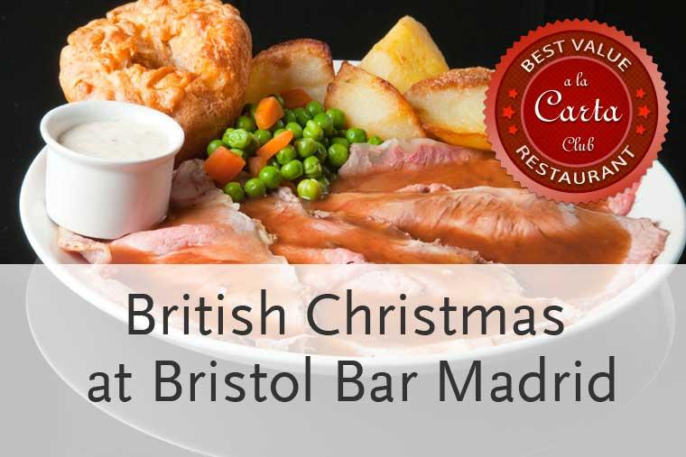 Menús para la Navidad 2013 en Bristol Bar Madrid