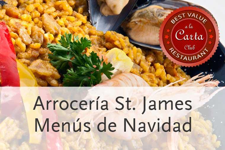 Menús de Navidad en St. James Juan Bravo