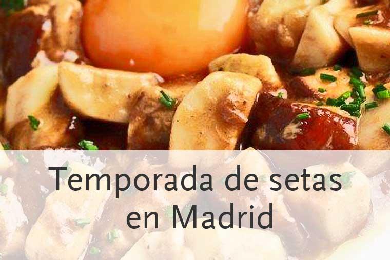 Algunos de los mejores restaurantes para comer setas en Madrid