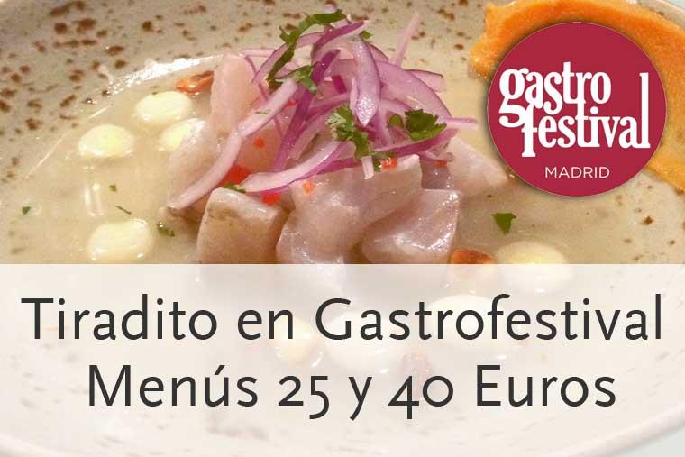 Restaurante peruano Tiradito Madrid en Gastrofestival 2014