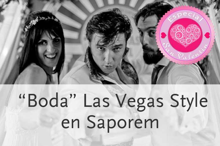 Boda estilo las Vegas en Saporem Madrid