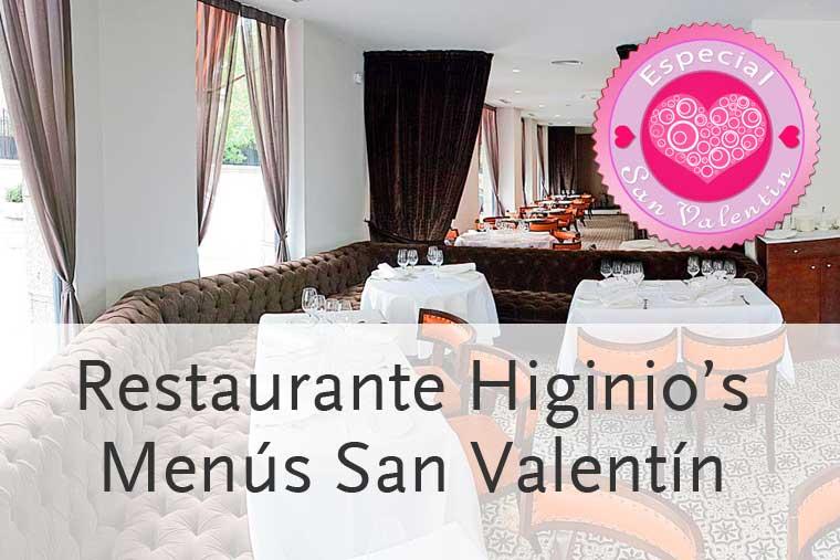Menús para San Valentín 2014 en Higinio's