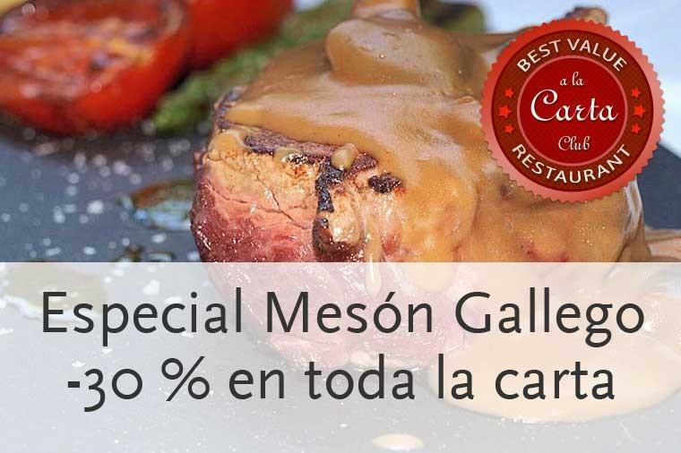 Descuento del 30 % en el restaurante Mesón Gallego de Madrid