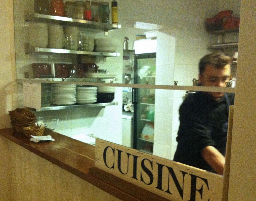 Pequeña cocina en Tándem Madrid