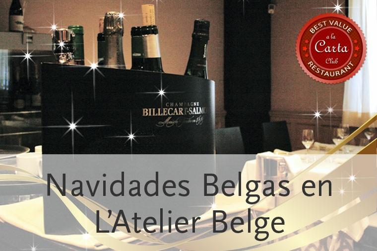 Menús de grupos para Navidad 2014 en Atelier Belge