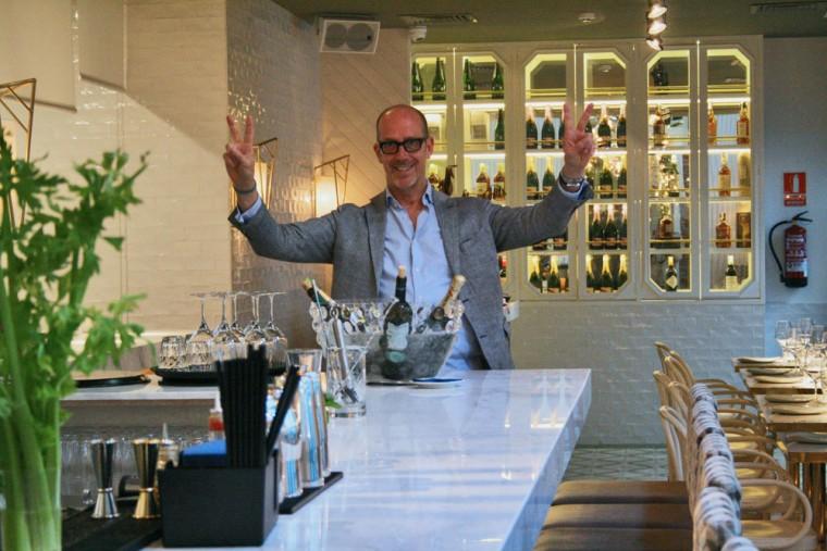Pepe Caldas en el flamante Babelia Café