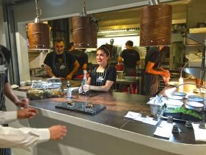 La cocina de La Candela Restó Madrid