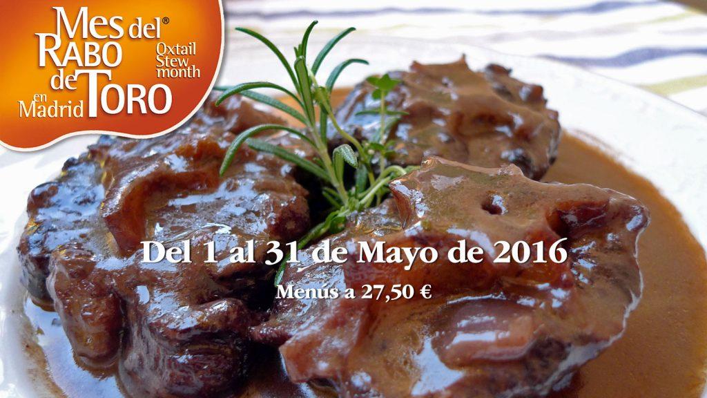 Mayo mes del rabo de toro en Madrid