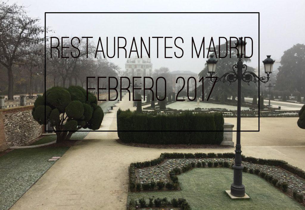 Nuevos restaurantes en Madrid para febrero 2017