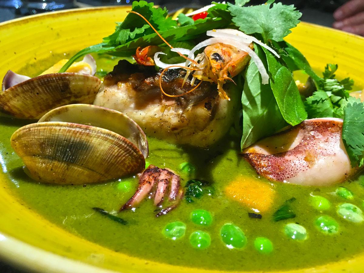 Curry verde de mar en El Flaco
