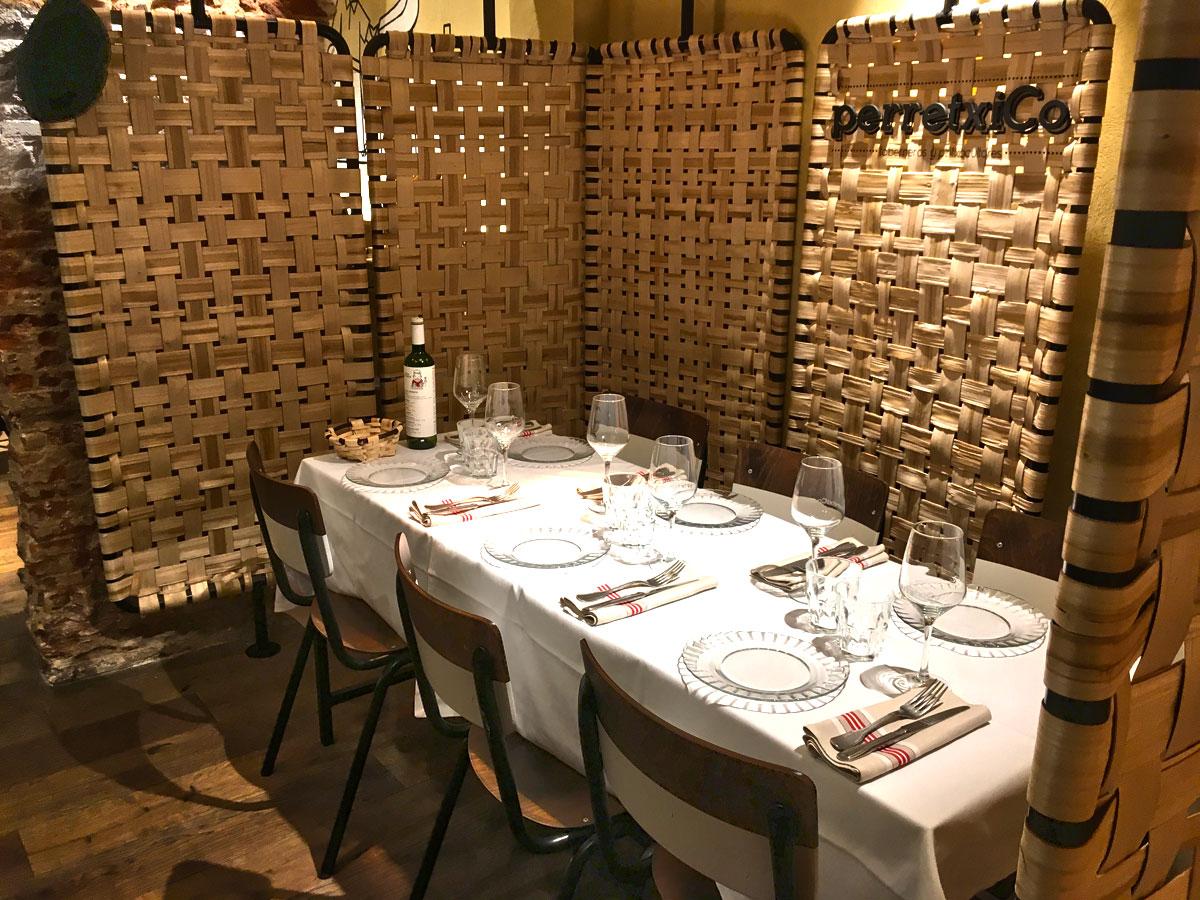 Comedor en Vista de PerretxiCo Madrid